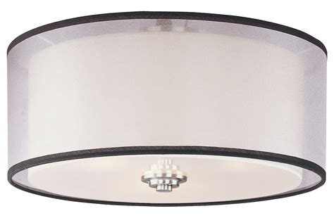 Drum L Shade Frame by Hexagon Patterned Drum Shade Semi Flush Mount