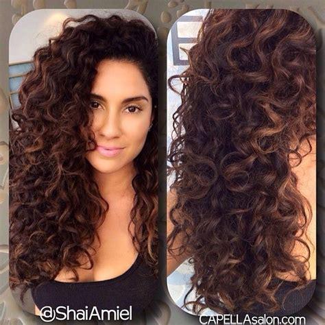 ideas  long permed hairstyles  pinterest