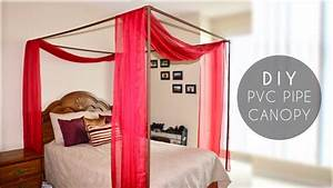diy pvc pipe bed canopy youtube With diy canopy bed from pvc pipes