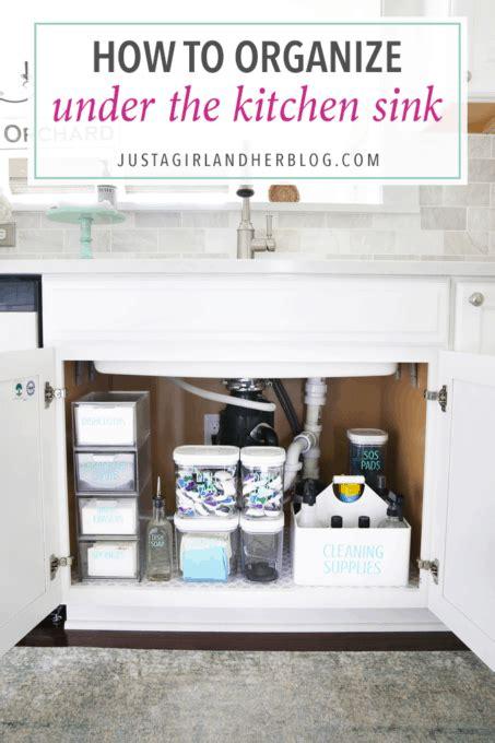 organize   kitchen sink abby lawson