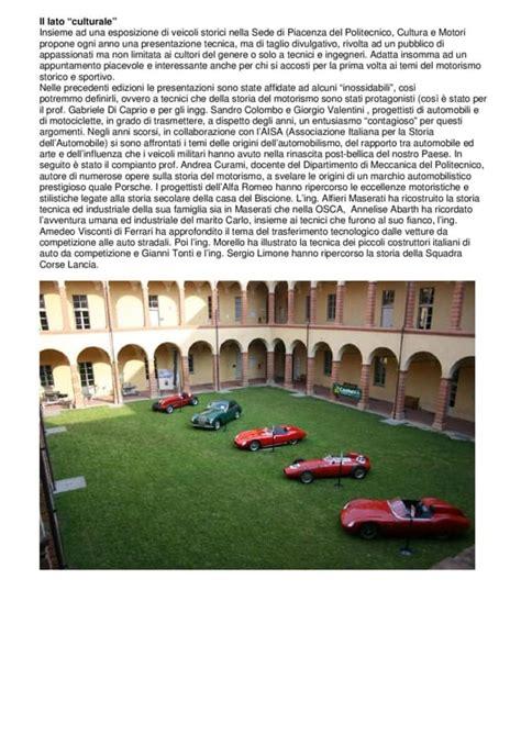 Di Piacenza Sede Sede Piacentina Politecnico Quot Cultura E Motori Quot