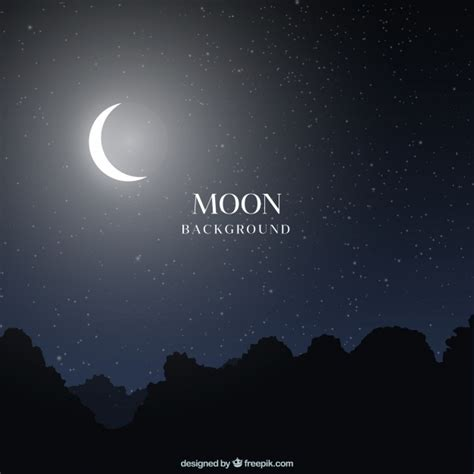 moon backgrounds landscape background with moon vector free
