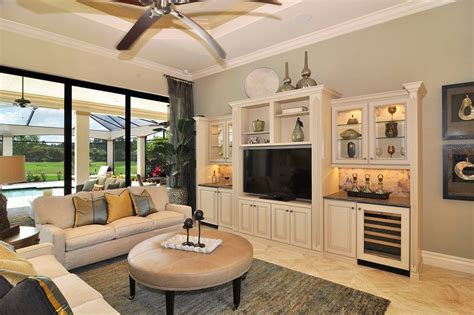 White Cabinets With Brown Trim by Custom Built Entertainment Center Ideas Living Room