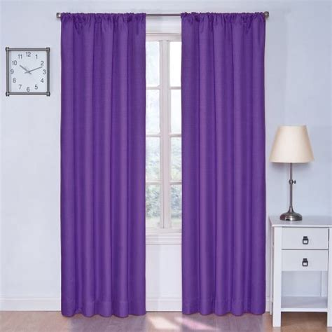 walmart eclipse curtains purple eclipse kendall blackout thermal curtain panel purple