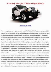 2005 Jeep Wrangler Tj Service Repair Manual By