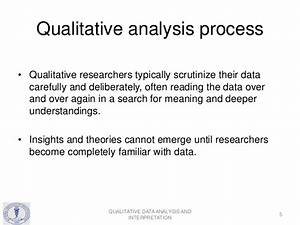 Qualitative Data Analysis and Interpretation