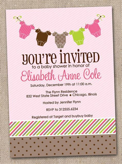 printable baby shower invitations girl baby tees bunting