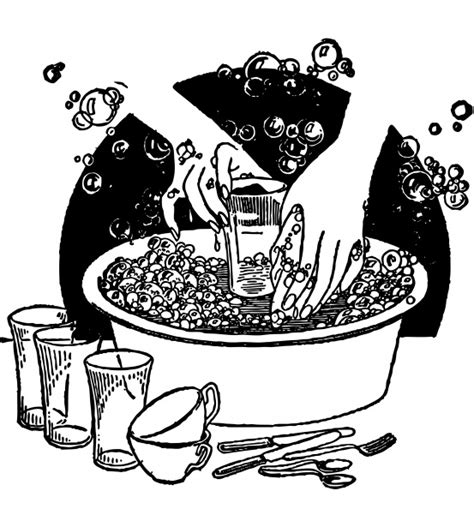 Washing Dishes Clipart Washing Dishes Vintage Clipart Free Stock Photo
