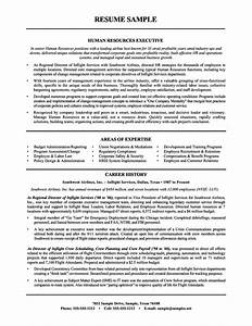 Resume to hr manager