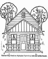Houses Coloring Print Pages Printable Sheets Colouring Colour Adult Cartoon Places Building Farm Raisingourkids Clipart Adults Castle Printing Haunted Fun sketch template