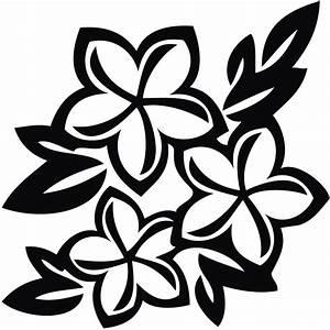 Hawaiian Flower Clip Art Black And White | Clipart Panda ...
