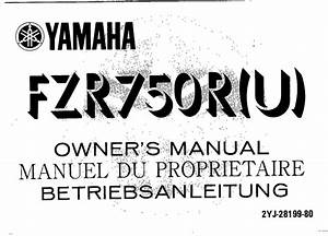 Yamaha Fz750 U 1988 Owner U2019s Manual