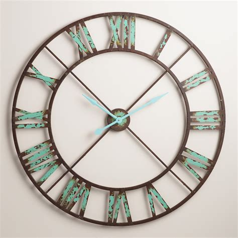 Turquoise Large Wall Clocks For Living Room Best Site