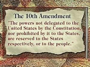 10th Amendment - The Bill of Rights