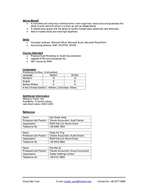 Works Well With Others Resume chuah mei yuen resume
