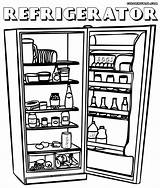 Refrigerator Coloring sketch template