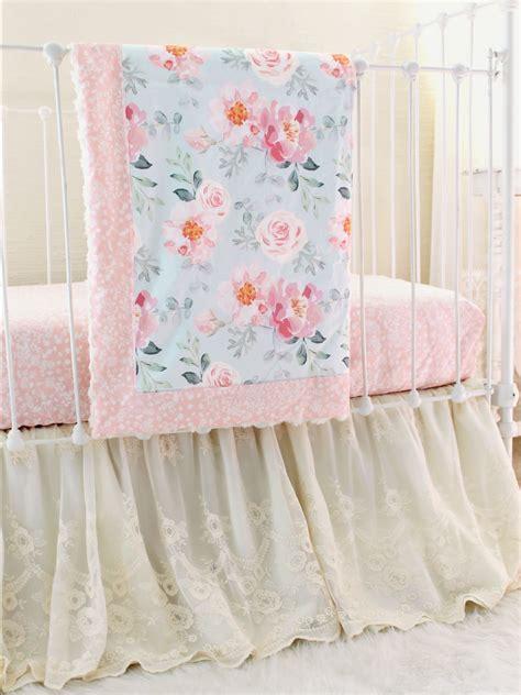 14722 lace crib bedding vintage floral crib bedding blooms lottie da