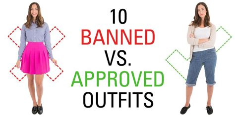 banned  approved outfits  show  ridiculous