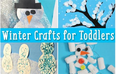 simple winter crafts  toddlers easy peasy  fun