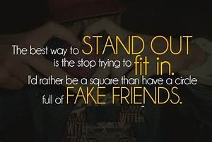 True Friends An... Phony Friend Quotes
