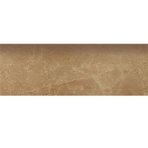 Home Depot Wall Tile Trim by Porcelanosa Zocalo Marmol Kali 18 In X 4 In Tobaco