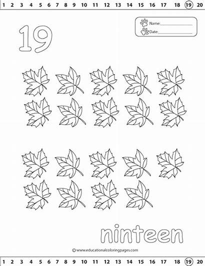 Coloring Number Pages Sheet Worksheets Numbers Printable
