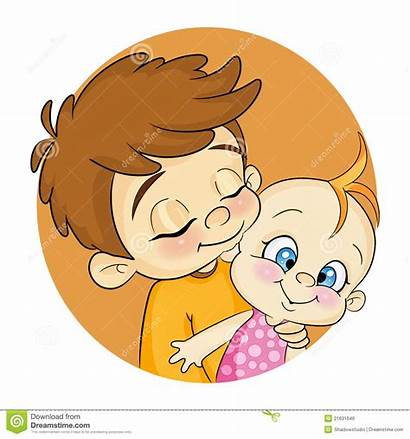 Brother Clipart Brothers Hugs Cartoons Sibling Sister