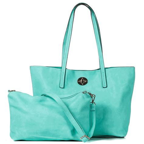 monogram faux leather totes personalized  bag set