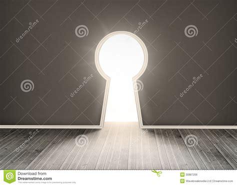 serrure porte chambre trou de la serrure formé par porte montrant la lumière