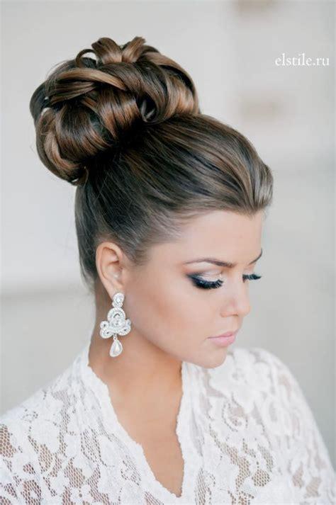 chignon haut pour mariage coiffure en image