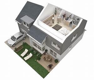 plans 3d dappartements studios maisons plus immo With plan maison moderne 3d 6 architecture dinterieur et plans 3d