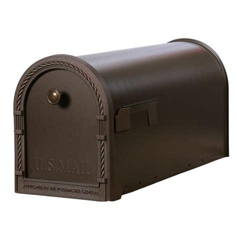 gibraltar mailboxes designer steel post mount mailbox