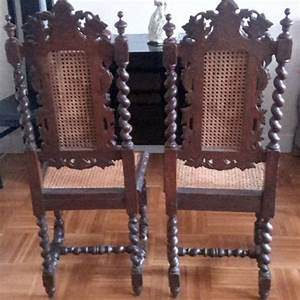 Chaise Louis Xiii : paire de chaises paill es de style louis xiii du 19 ou 20 ~ Melissatoandfro.com Idées de Décoration