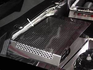 2011-2013 Ford Mustang GT 5.0 Polished Stainless Steel Perforated Battery Cover | Modern Gen Auto
