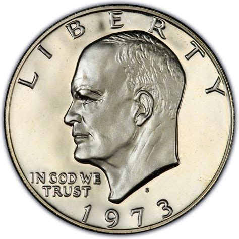 eisenhower dollar value 1973 eisenhower dollar values and prices past sales coinvalues com