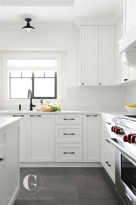 white kitchen with tile floor 50 best grey floors white cabinets 1844