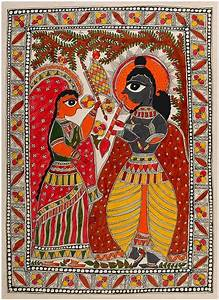 radha krishna painting at best prices shopclues online With best brand of paint for kitchen cabinets with radha krishna wall art