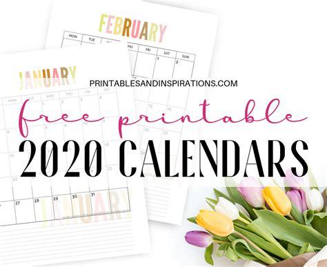 Free 2020 Calendar Printable Planner PDF (My Ultimate List ...