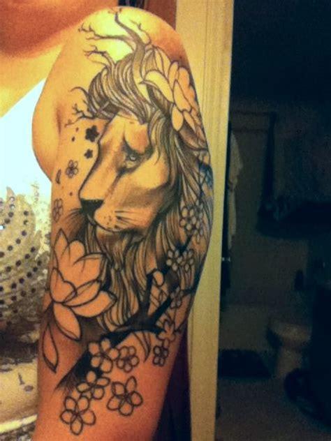 lion tattoo  flowers google search body art lion