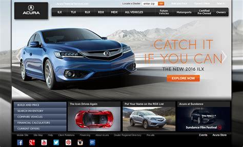 Car Designer Website by 32 Inspiring Websites For Automotive Companies
