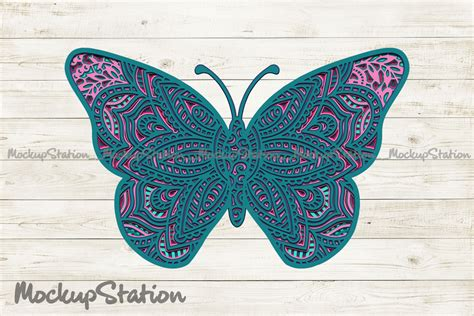 $3.00 $0.99 add to cart. Butterfly 3D Mandala SVG, Layered DXF Cut File Vector By ...