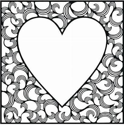 Hearts Coloring Pages Adults