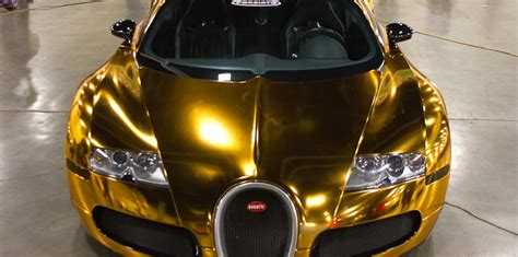 The easiest way to make the most for your money these days in by online shopping. Bugatti Veyron gold wrapped for US rapper Flo Rida