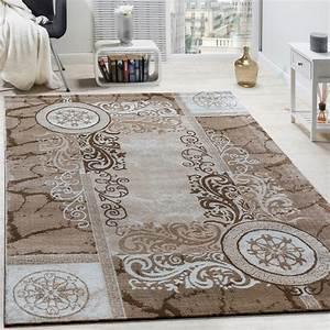 Teppich Beige Weiss : designer teppich floral meliert beige design teppiche ~ Eleganceandgraceweddings.com Haus und Dekorationen