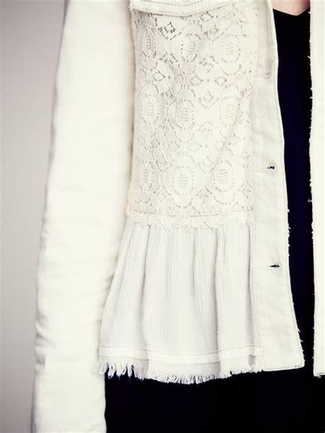 people denim  lace jacket  white lyst