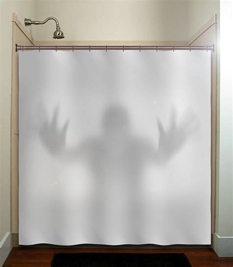 creepy shower curtain gray scary ghost shower curtain fabric