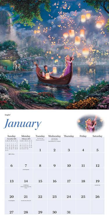 thomas kinkade disney dreams collection calendarios