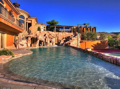 Backyard Water Park by Nevada Mansion With Its Own Backyard Water Park Makes A