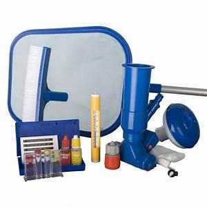 Kit Entretien Piscine Gonflable : kit de nettoyage sp cial piscine autoportante achat vente entretien de piscine kit de ~ Voncanada.com Idées de Décoration
