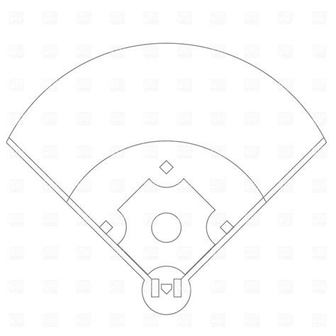 baseball field template best baseball field plan drawing free vector file eps pictures vector library